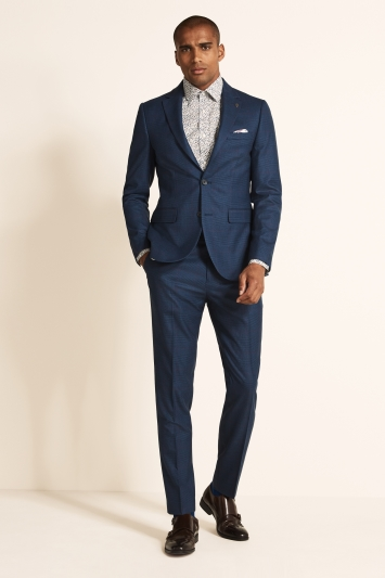 Ted Baker Slim Fit Blue with Purple Check Jacket