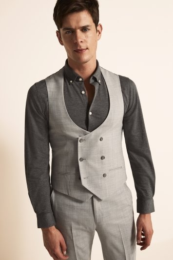Ted Baker Slim Fit Light Grey Crepe Jacket