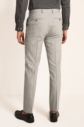Ted Baker Slim Fit Light Grey Crepe Trousers