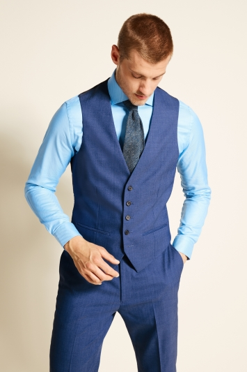 Tailored Fit Faded Blue Eco Waistcoat