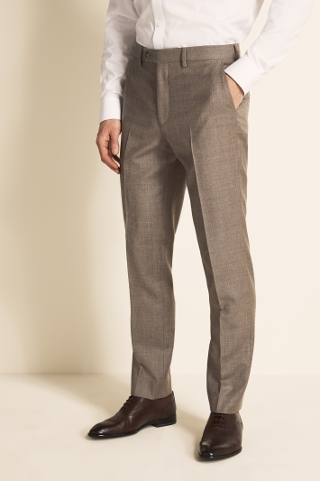 Ted Baker Gold Tailored Fit Stone Semi Plain Jacket