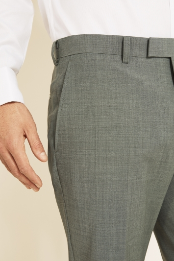Moss 1851 Performance Tailored Fit Light Green Trousers