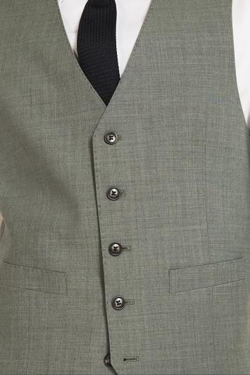 Moss 1851 Performance Tailored Fit Light Green Waistcoat