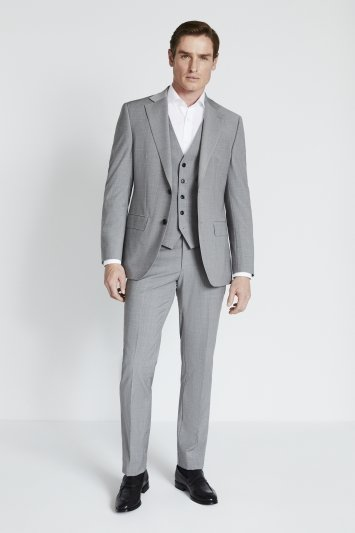 Moss 1851 Performance Tailored Fit Light Grey Marl Jacket