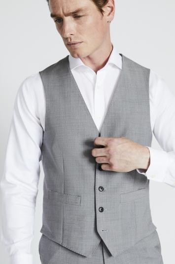 Moss 1851 Performance Tailored Fit Light Grey Waistcoat