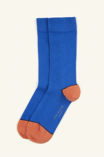 Ted Baker Jack Deep Pink Plain with Contrast Sock