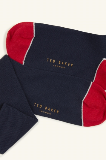 Ted Baker Jack Navy Plain with Contrast Sock