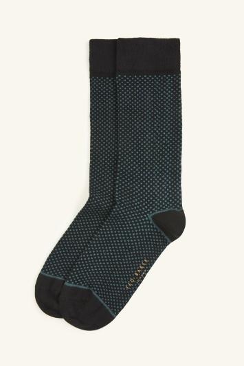 Ted Baker Quail Blue Dot Sock