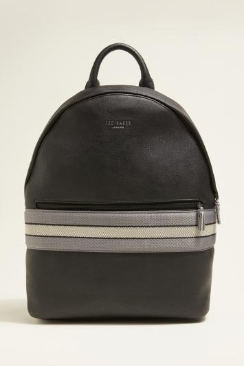 Ted Baker Agro Black Webbing Backpack