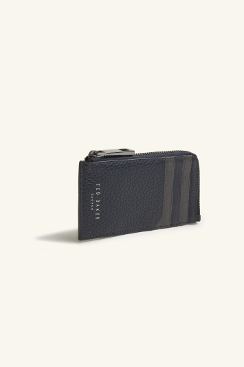 Ted Baker Worcard Navy Leather Zip Around Card Holder
