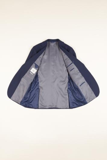 Moss 1851 Regular Fit Blue Check Jacket