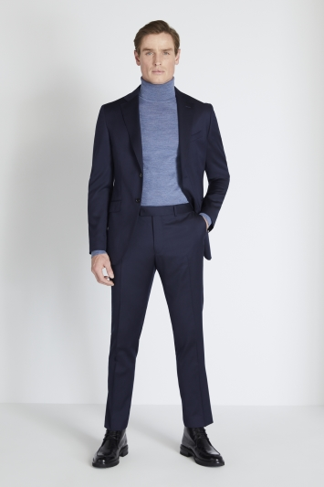 Reda Slim Fit Navy Twill Jacket