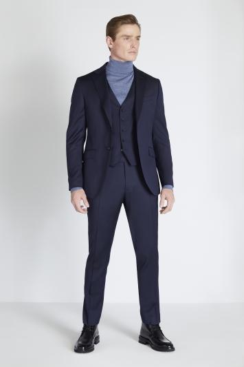 Reda Slim Fit Navy Twill Jacket