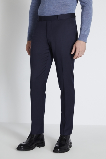 Reda Slim Fit Navy Twill Trouser