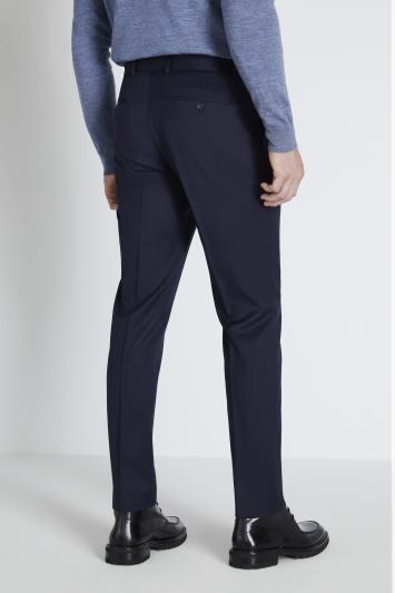 Reda Slim Fit Navy Twill Trouser