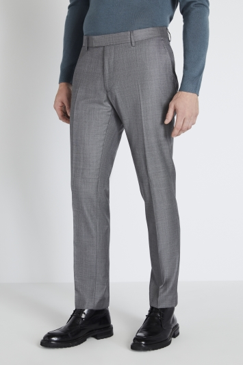 Reda Slim Fit Grey Sharkskin Trouser