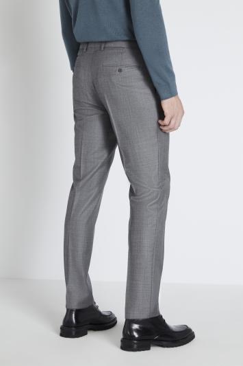 Reda Slim Fit Grey Sharkskin Trouser