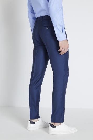 Reda Slim Fit Blue Sharkskin Trouser