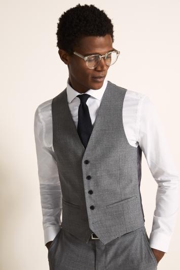 DKNY Slim Fit Grey Waistcoat