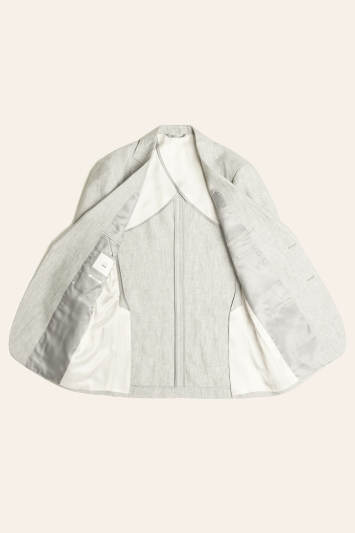 Tailored Fit Green Linen Jacket