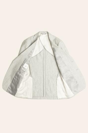 Moss 1851 Tailored Fit Green Lightweight Linen Jacket
