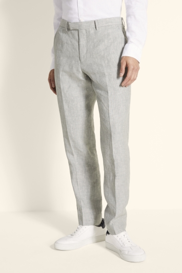Moss 1851 Tailored Fit Green Linen Trousers