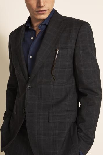 Vitale Barberis Canonico Tailored Fit Grey Check Jacket