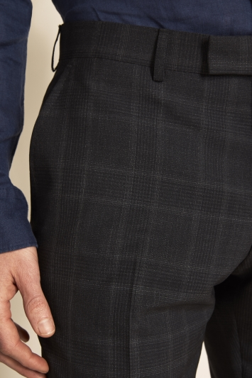 Vitale Barberis Canonico Tailored Fit Grey Check Trousers