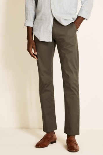 Moss 1851 Tailored Fit Moss Green Stretch Chino