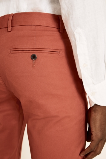Moss 1851 Tailored Fit Salmon Stretch Chino