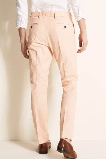 Moss London Slim Fit Pale Pink Stretch Chino