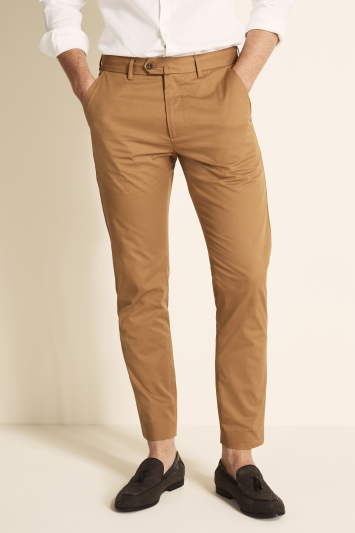 Tailored Fit Tan Eco Stretch Chino