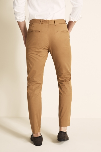 Moss 1851 Tailored Fit Eco Tan Light Weight Stretch Chino