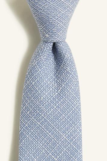 Vitale Barberis Canonico Sky Italian Wool Linen Textured Tie