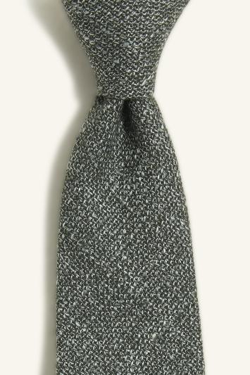 Vitale Barberis Canonico Green Italian Wool Linen Textured Tie
