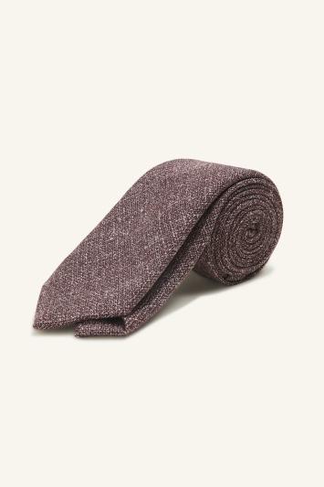 Vitale Barberis Canonico Burgundy Italian Wool Linen Textured Tie