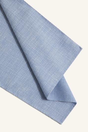 Vitale Barberis Canonico Sky Italian Wool Linen Textured Pocket Square