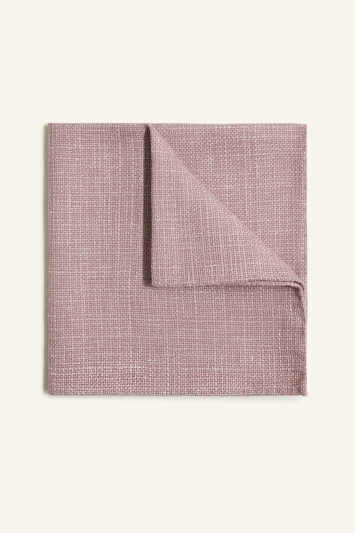 Vitale Barberis Canonico Pink Italian Wool Linen Textured Pocket Square