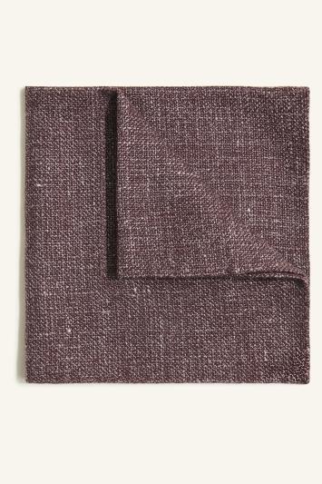 Vitale Barberis Canonico Burgundy Italian Wool Linen Textured Pocket Square