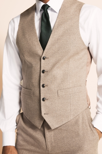Moss 1851 Tailored Fit Neutral Waistcoat