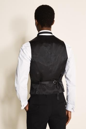 Tailored Fit Black Dress Waistcoat