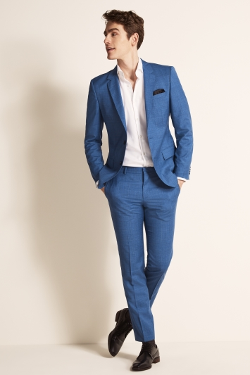 HUGO by Hugo Boss Mid Blue Windowpane Jacket