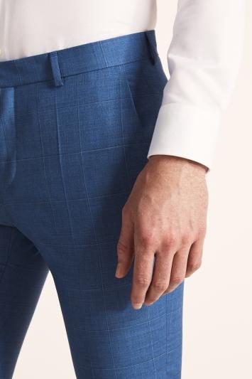 HUGO by Hugo Boss Mid Blue Windowpane Trousers