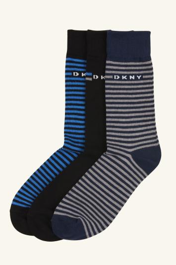 DKNY Harbor Multicolour Stripe 3-Pack Socks