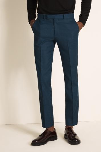 Moss London Slim Fit DarkTeal Trouser