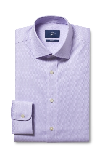 Slim Fit Lilac Egyptian Cotton Shirt
