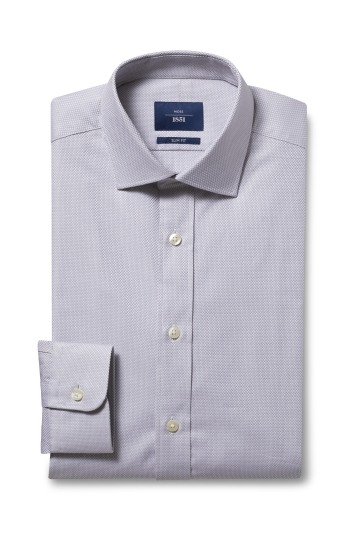 Slim Fit Grey Egyptian Cotton Shirt