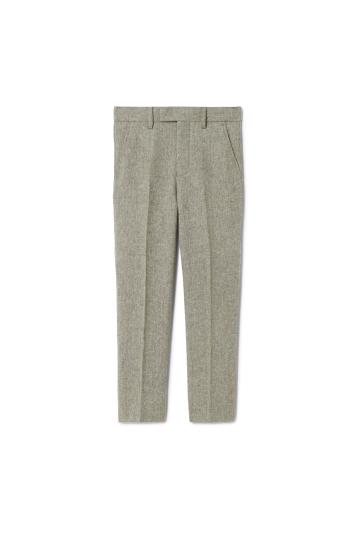 Boys Sage Herringbone Tweed Trousers