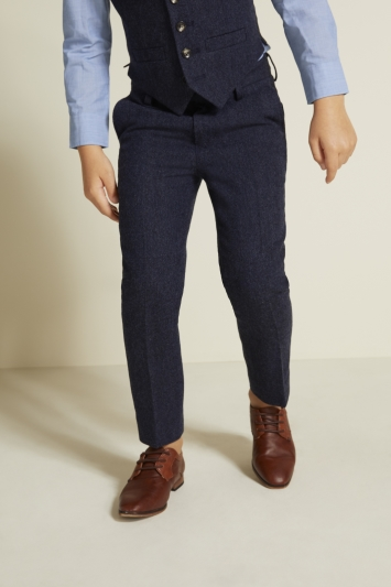 Boys Blue Donegal Trousers