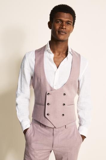 Moss London Slim Fit Mink Waistcoat